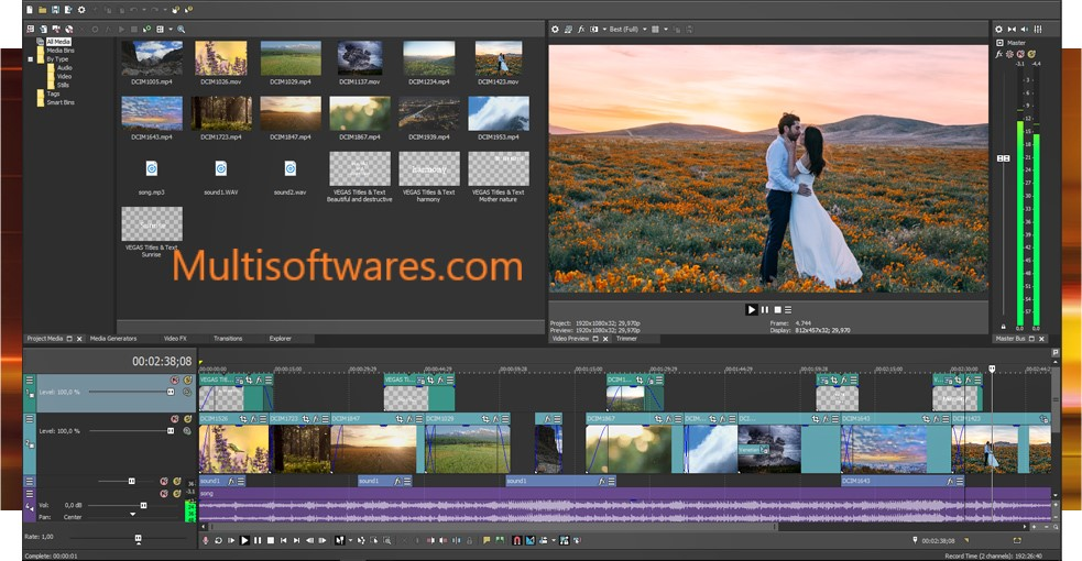 Sony Vegas Pro 16.0 Crack & Keygen Free Download