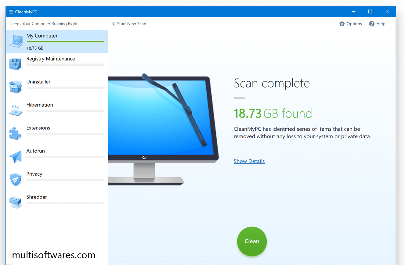 CleanMyPC 1 10 2 Build 1999 Crack + Activation Code Free