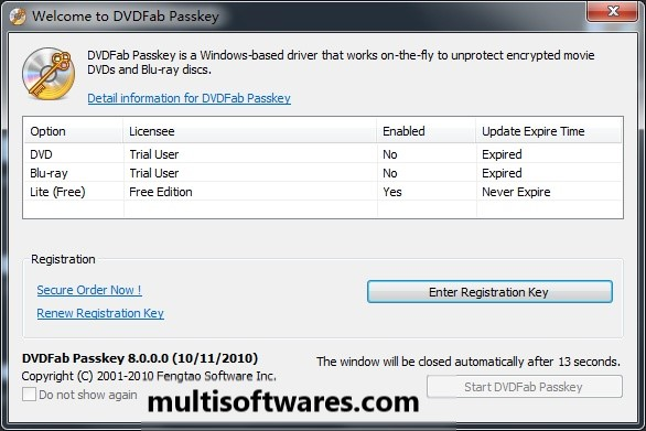 DVDFab Passkey Lite 9.3.3.7 Crack + Registration Key Full 2019